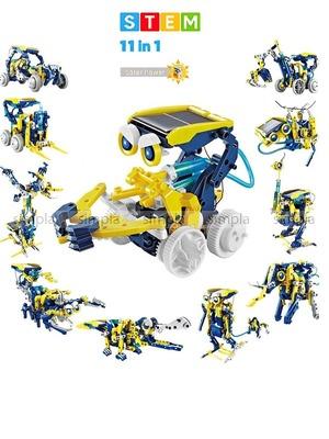 Робот Конструктор на солнечной батарее 11 в 1 Роботостроение