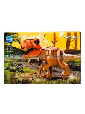 Развивающий Конструктор Динозавр Zuanma со звуком.